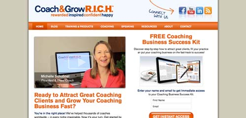 Coach & Grow R.I.C.H. (rebrand + web development)