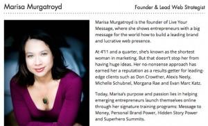 Marisa Murgatroyd Bio
