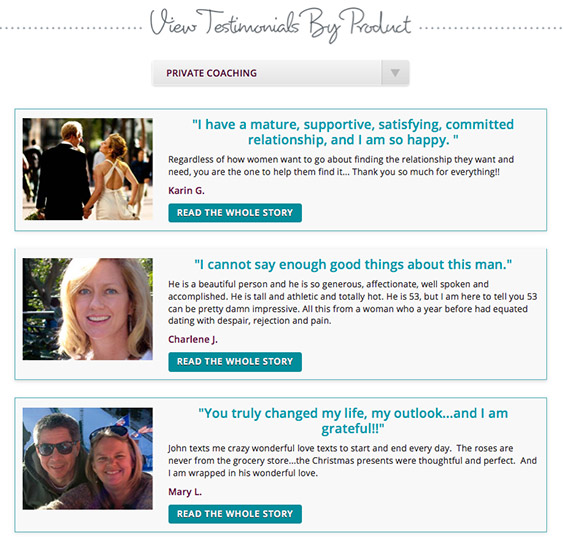dating website testimonials
