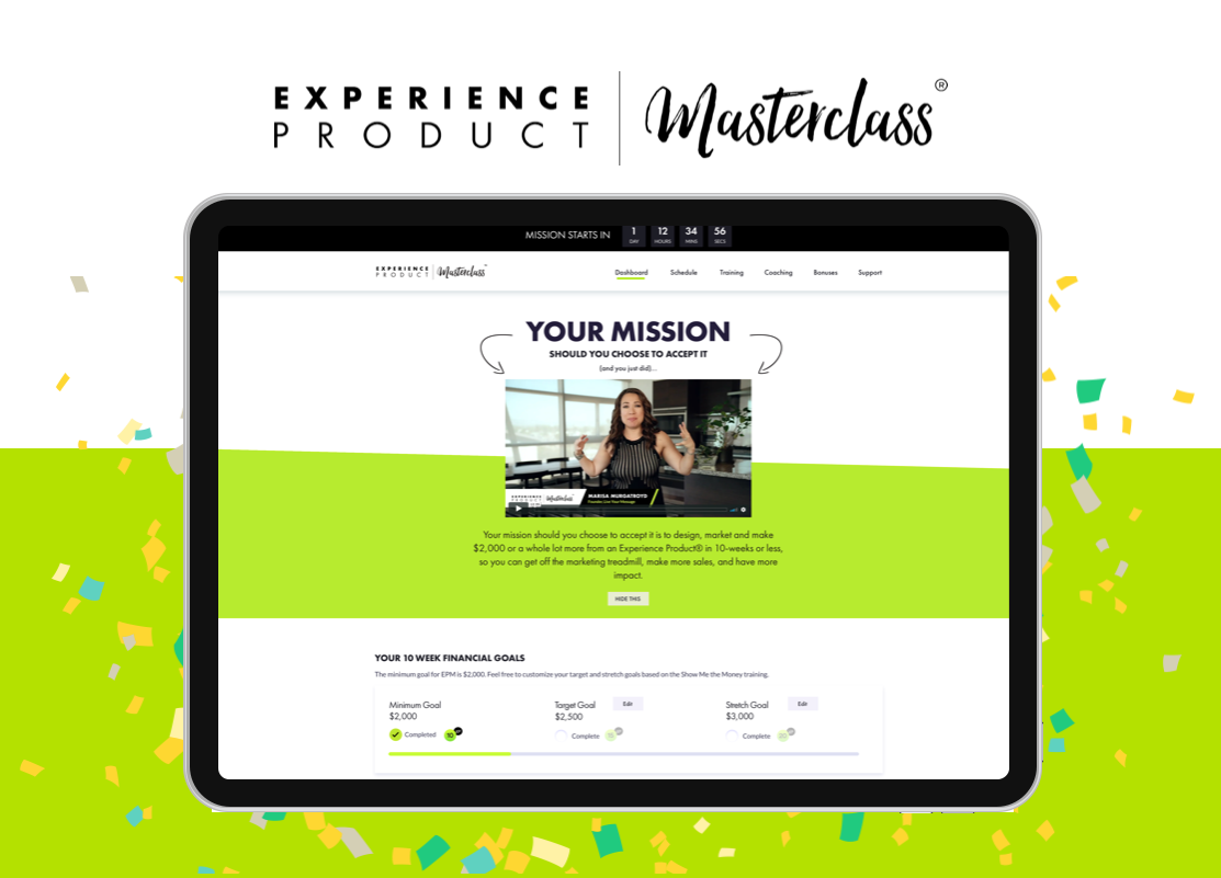 Experience Product Masterclass