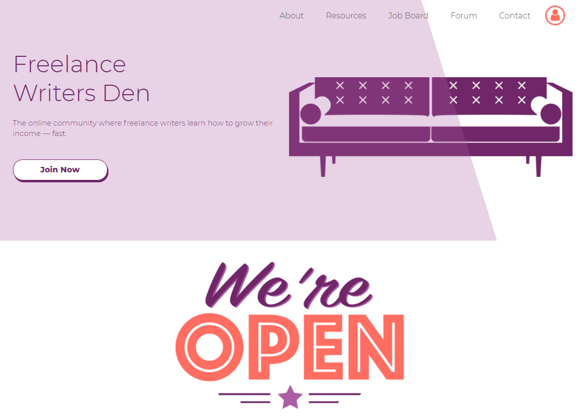 Freelance Writers Den membership site